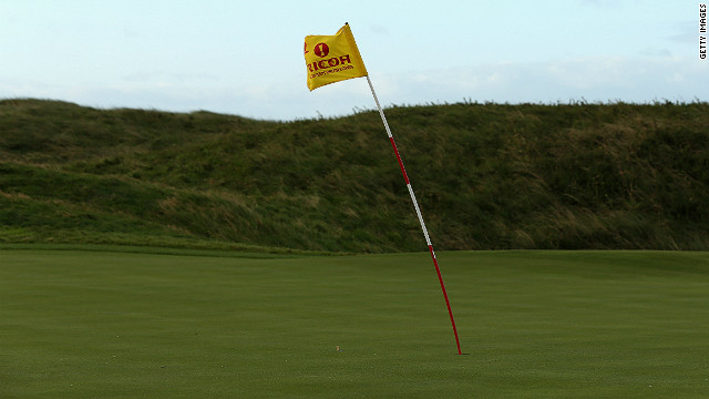 The wind blew hard on day two of the Women's British Open at Hoylake, forcing officials to abandon play