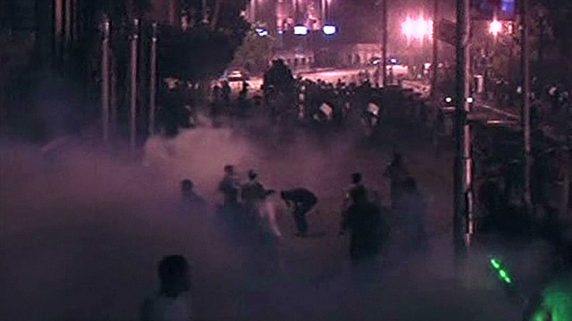 Tear gas and a standoff in Cairo, Egypt