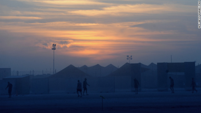 The U.S.-run Camp Leatherneck in Helmand province, shown in a 2010 file photo, is part of the joint base that was attacked Friday.