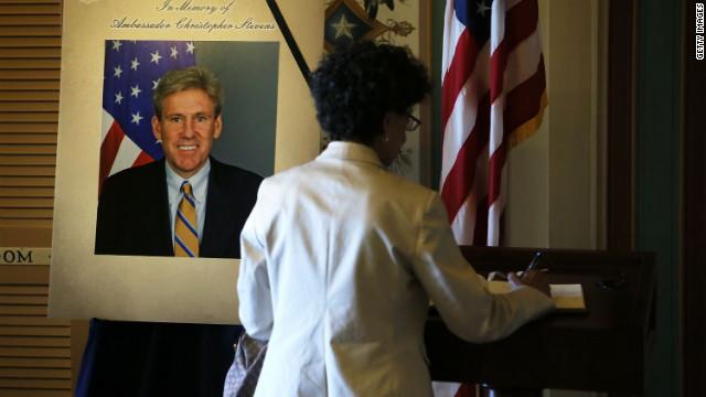 Briefing Amb. Stevens on Libya security