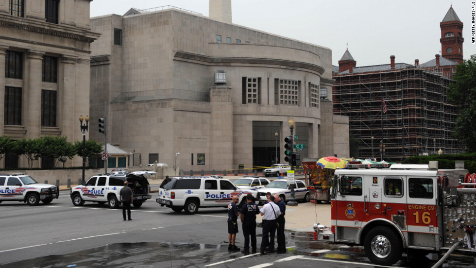 In 2009, James von Brunn shot security officer Stephen Tyrone Johns with a rifle at the entrance to the U.S. Holocaust Memorial Museum in Washington after Johns had opened the door for him. Other security guards then shot von Brunn, authorities said. Von Brunn died in 2010.