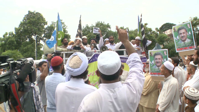 Peaceful protests in Pakistan