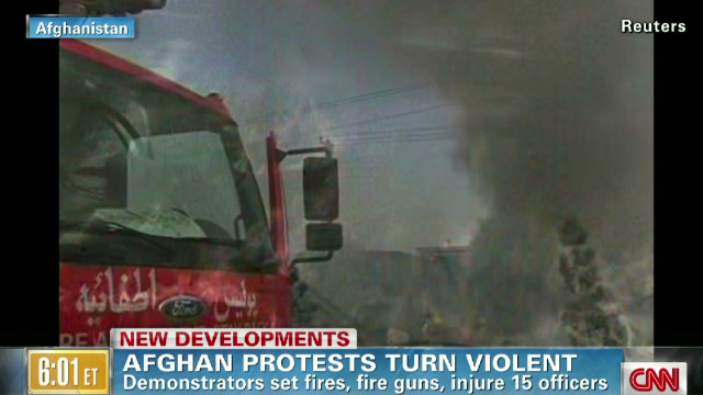 Protests in Afghanistan turn violent