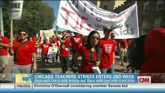 Chicago teachers strike enters week two