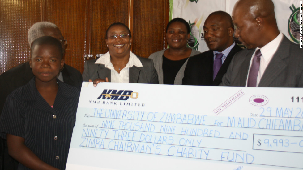 She has been granted a four-year scholarship from the Zimbabwe Revenue Authority (ZIMRA), valued at nearly $10,000.