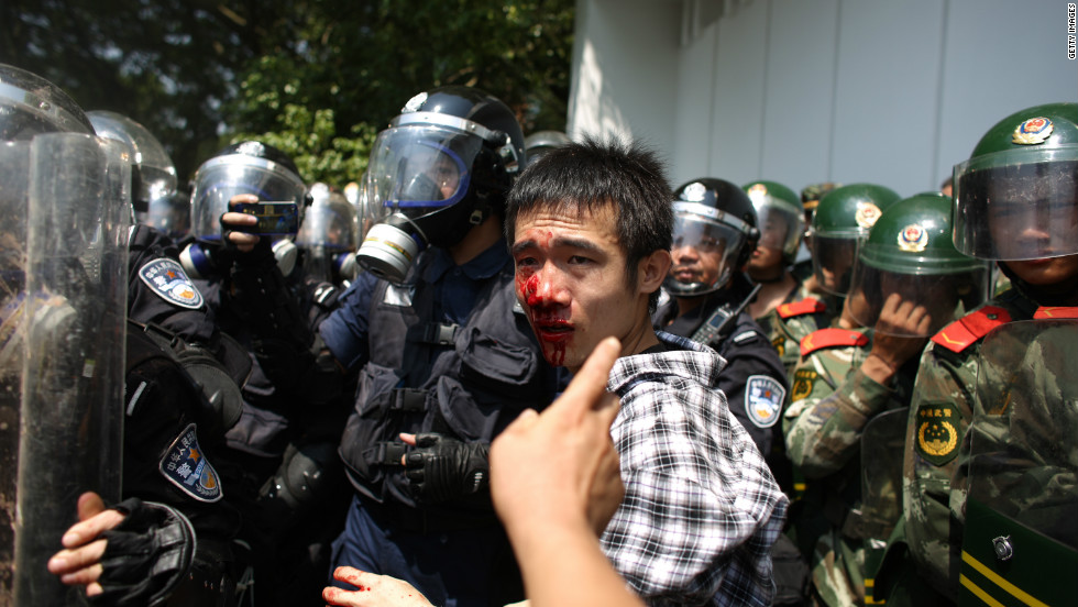 The protests, at times, became violent.