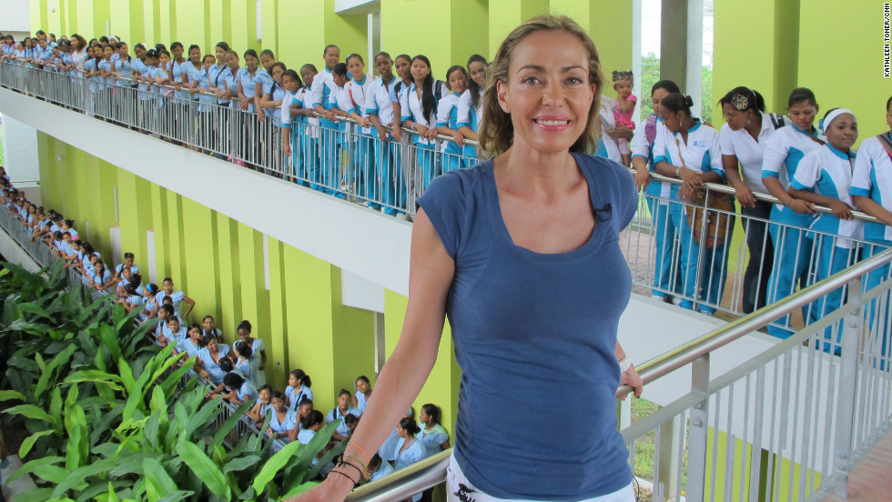 "Catalina Escobar is <a href=""http://www.cnn.com/2012/08/16/world/americas/cnnheroes-catalina-escobar/index.html"">helping young moms</a> in Colombia, where one in five girls age 15-19 is or has been pregnant. Since 2002, her foundation has provided counseling, education and job training to more than 2,000 teenage mothers. ""Teenage pregnancy is a world poverty problem, and we have developed models of intervention that break the cycle,"" Escobar said. ""I want to share it with people around the world."" <a href=""http://www.cnn.com/2012/11/26/americas/gallery/heroes-escobar/index.html"" target=""_blank"">See more photos of Catalina Escobar</a>"