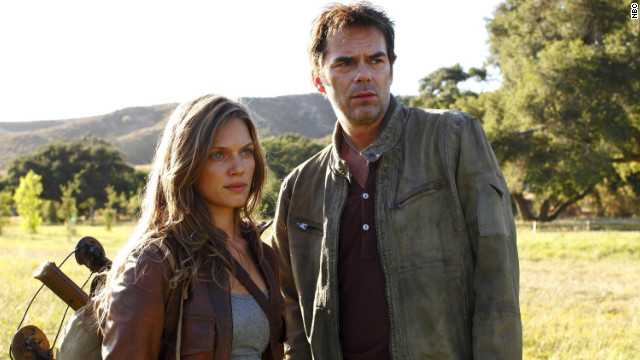 "Tracy Spiridakos and Billy Burke star in ""Revolution."""