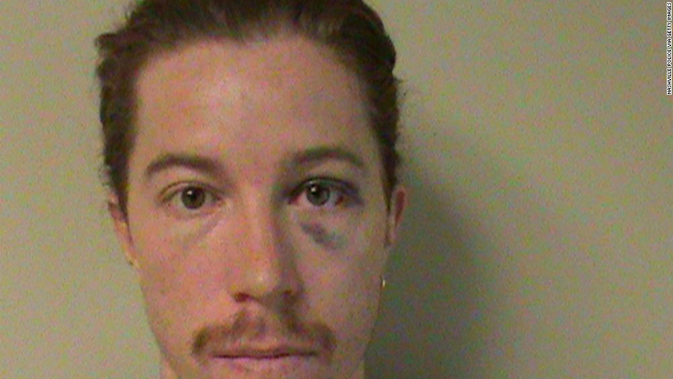 Olympic gold medalist Shaun White, 26, was charged with vandalism and public intoxication in Nashville, Tennessee, on September 16, 2012.