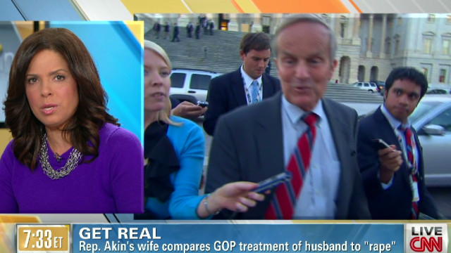 Get Real! Akin's wife uses rape metaphor