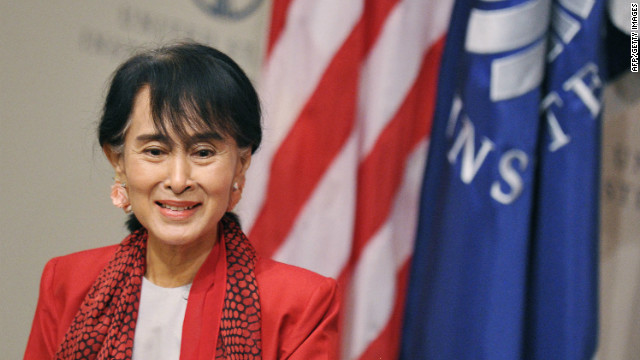Aung San Suu Kyi visits the U.S.