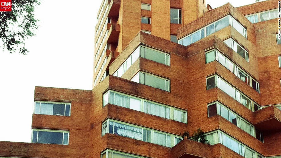 """Diego Soto Madrinan commends architect Rogelio Salmona for his design for the Residencias El Parque in Bogota, Colombia. """"I love the amazing geometry with the simple use of brick for this building,"""" Madrinan says."""