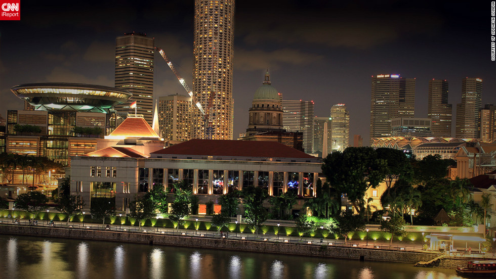 """This image of the Supreme Court in Singapore was taken by iReporter Siddhesh Scindia. He says the cityscape in Singapore is """"beautiful, clean"""" and """"well organized."""""""