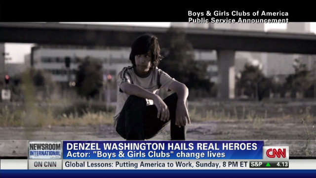 Denzel Washington hails real heroes