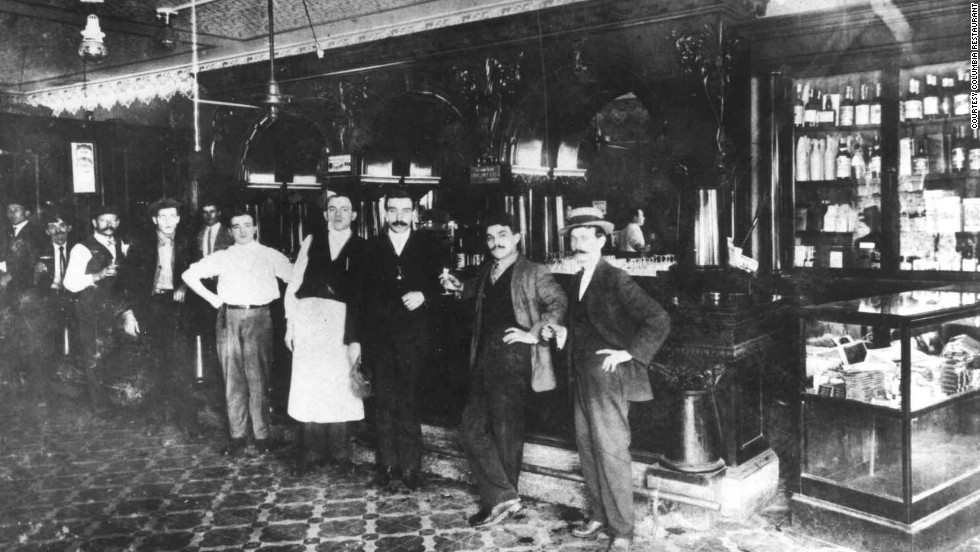 The Columbia Restaurant opened as a 60-seat cafe in 1905. Today the cafe is one of 15 dining rooms, and the historic room's original mahogany bar is still intact.