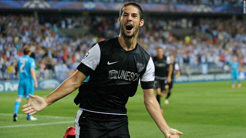 Despite their interest in Bale, Real have already flexed their muscles in the transfer window by signing young Spanish stars Isco (pictured playing for Malaga last season) for $40m and Asier Illarramendi from Real Sociedad for $51m.
