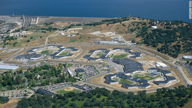 Guards put down a brief riot Wednesday at California State Prison-Sacramento, seen here in an aerial view.