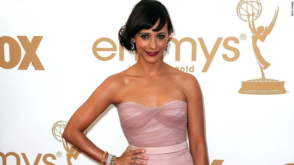 Rashida Jones donned a strapless blush number 2011.