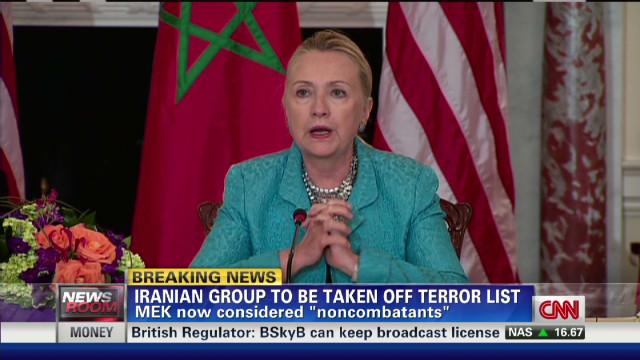 Clinton to take MEK off terror list