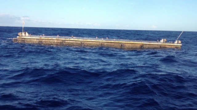 Huge dock from tsunami found near Hawaii
