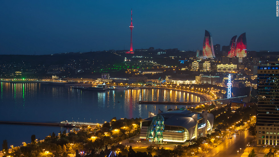 Construction was halted at one point as engineers battled Baku's frequent gale-force winds while also taking into consideration the area's seismic activity.