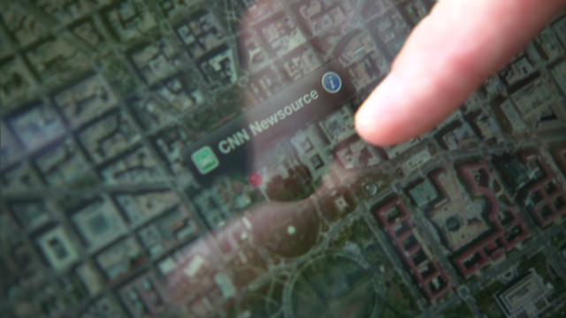 CNN tests out  Apple's map app