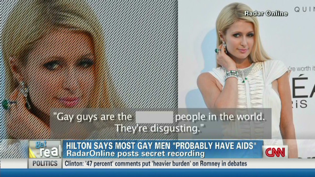 Get Real! Hilton: Gay men 'disgusting'
