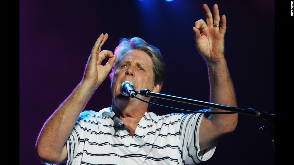 Brian Wilson performs during the opening night for the 2008 Sydney Festival in the Domain in January 2008 in Sydney.