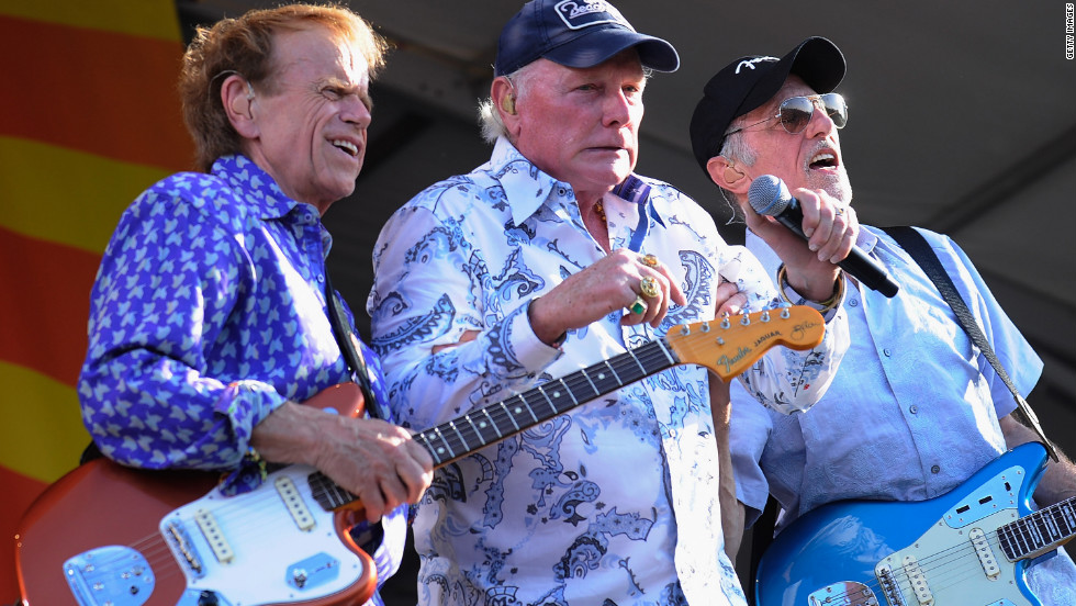 Al Jardine, Mike Love and David Marks perform during the 2012 New Orleans Jazz & Heritage Festival in April 2012 in New Orleans.