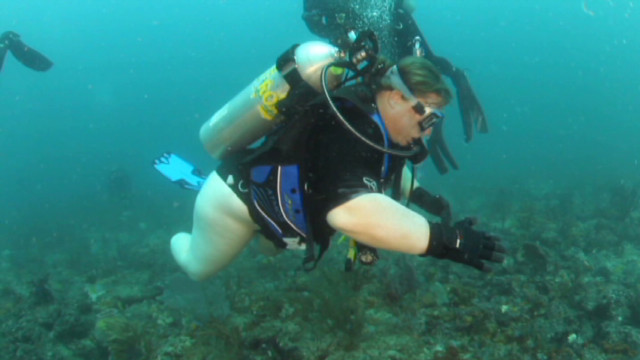 Disabled vet: I feel alive SCUBA diving