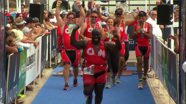 Gupta and team finish triathlon strong