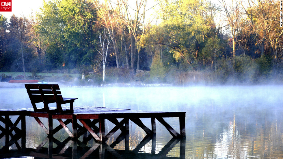 """I saw the early morning fog and thought it was a very interesting shot,"" said Yves Preston, who used an iPhone 4S <a href=""http://ireport.cnn.com/docs/DOC-846030"">to get this shot</a> in Lac Du Cours, Wisconsin."