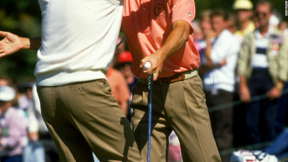 When mentioning Europe and the Ryder Cup, it is almost impossible not to think of Olazabal and the late, great Seve Ballesteros. The Spanish duo played together in the competition for the first time in 1987, when Europe retained the trophy in Ohio.