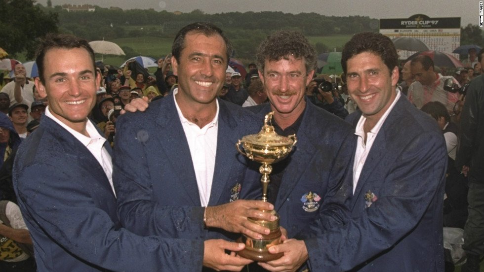 Ballesteros captained a European team to a memorable win in 1997. Europe's team, featuring Olazabal, sealed a dramatic 14 1/2 - 13 1/2 in the pair's homeland of Spain at the Valderrama Golf Club.