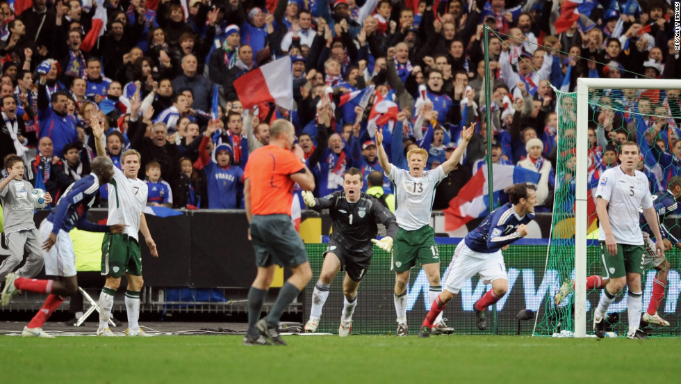 In a 2009 qualifying match for the 2010 World Cup, French striker Thierry Henry got away with touching the ball with his hand — twice — before teammate William Gallas scored the winning goal against Ireland, knocking the Irish out of the competition.