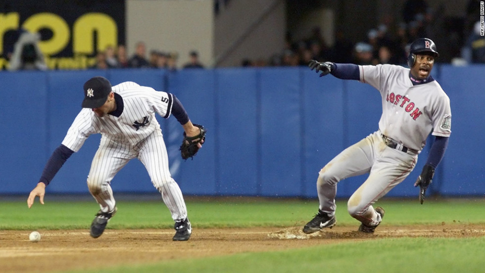 New York Yankees second baseman Chuck Knoblauch put a phantom tag on Jose Offerman of the Boston Red Sox during the American League Championship Series in 1999. Offerman was called out, and the Yankees went on to win.