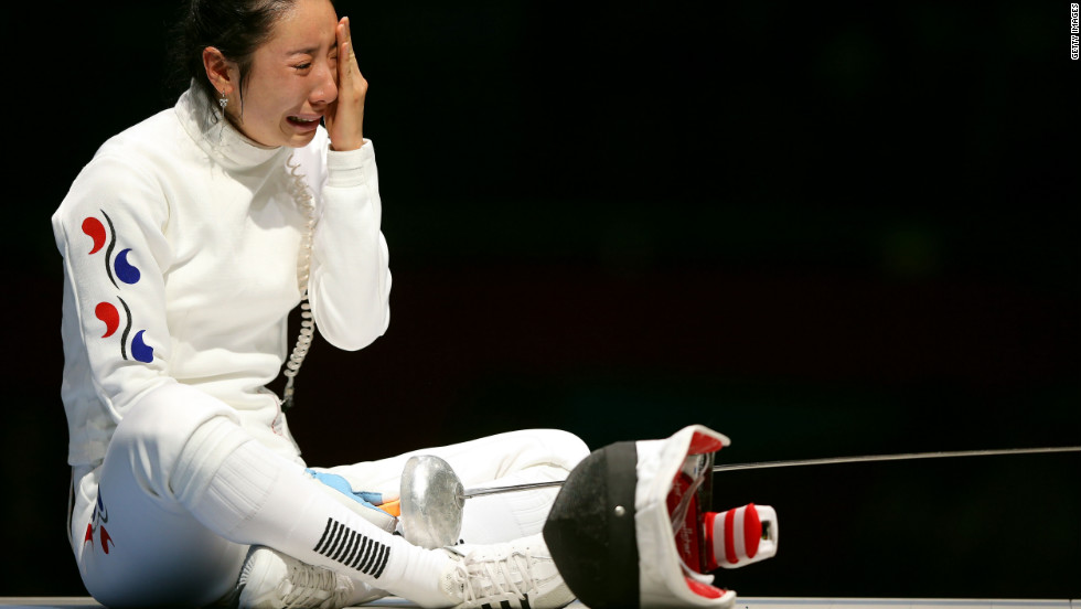 A timer got stuck (or something) during the 2012 London Olympics, allowing German fencer Britta Heidemann to defeat South Korean fencer Shin A-Lam in the epee semifinal. Shin sat on the piste for an hour, crying at times, while officials worked out the question.