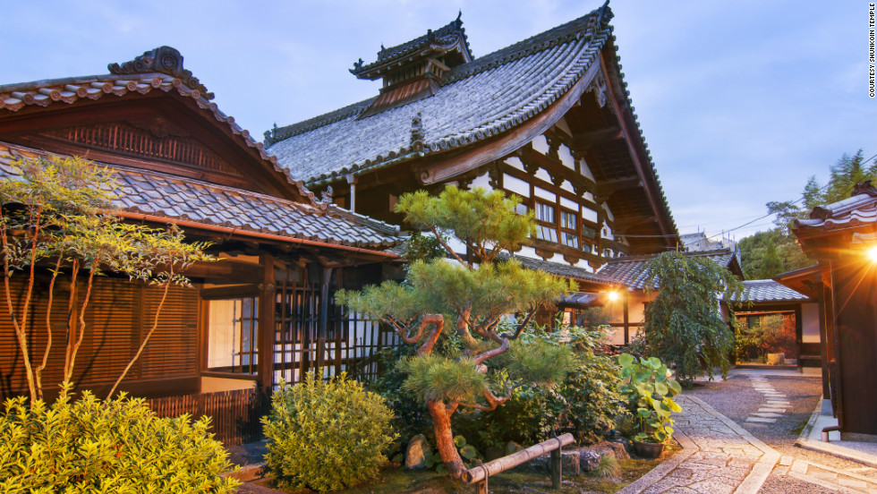 The Shunkoin temple lodge, in Kyoto, is open to meditation-inclined visitors looking to experience a bit of Zen Buddhism.