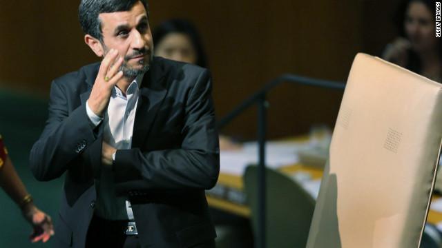 Iran's President Mahmoud Ahmadinejad cannot run for a third straight term.