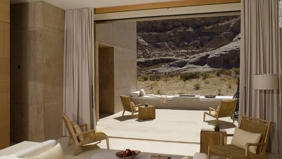 Located on 600 acres in a valley, Amangiri takes full advantage of its gorgeous landscape. Guests enter the suite via a private courtyard that continues up to a sky lounge with an outdoor bed, and the spa is only steps away. From $3,300; 1 Kayenta Rd., 435-675-3999; amanresorts.com.