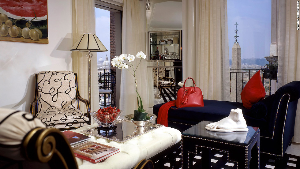 The Hassler Roma's 807-square-foot, one-bedroom Trinità dei Monti suite has close-up views of the domes of the Trinità dei Monti Church, floor-to-ceiling windows and a domed ceiling beset with Swarovski crystals. From $4,380; Piazza Trinità dei Monti 6; 39-06/699-340; hotelhasslerroma.com.