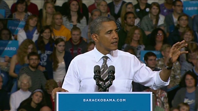 Obama misspeaks, zings Romney