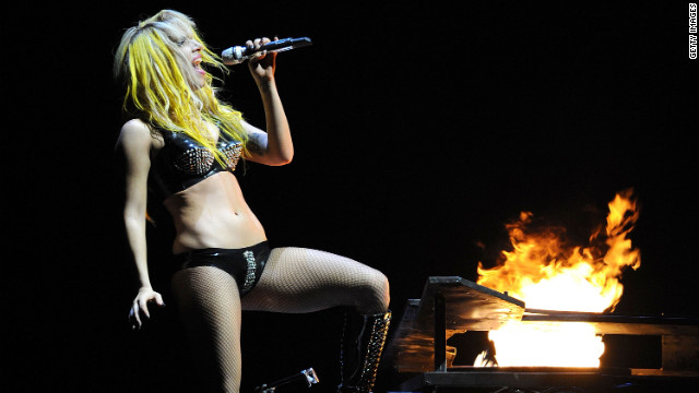 The recent images are not the first of the singer scntily clad. Here, she performs at the Staples Center wearing a two-piece ensemble in 2010.