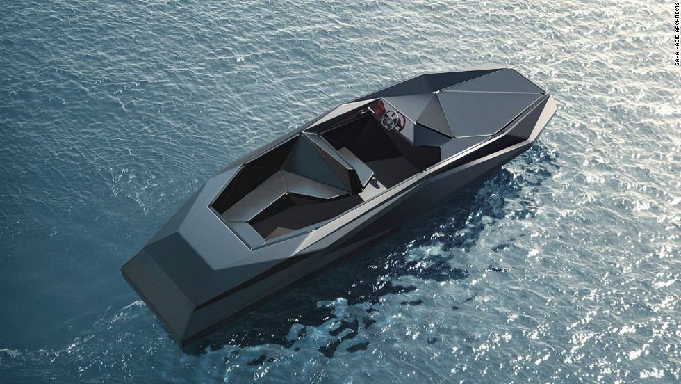 "She also designed a 3-wheel car, and this 8-person speedboat for art dealer Kenny Schachter, due in production next year. For more on the architects on ""Great Buildings"" <a href=""http://edition.cnn.com/SPECIALS/greatbuildings"">click here</a>."
