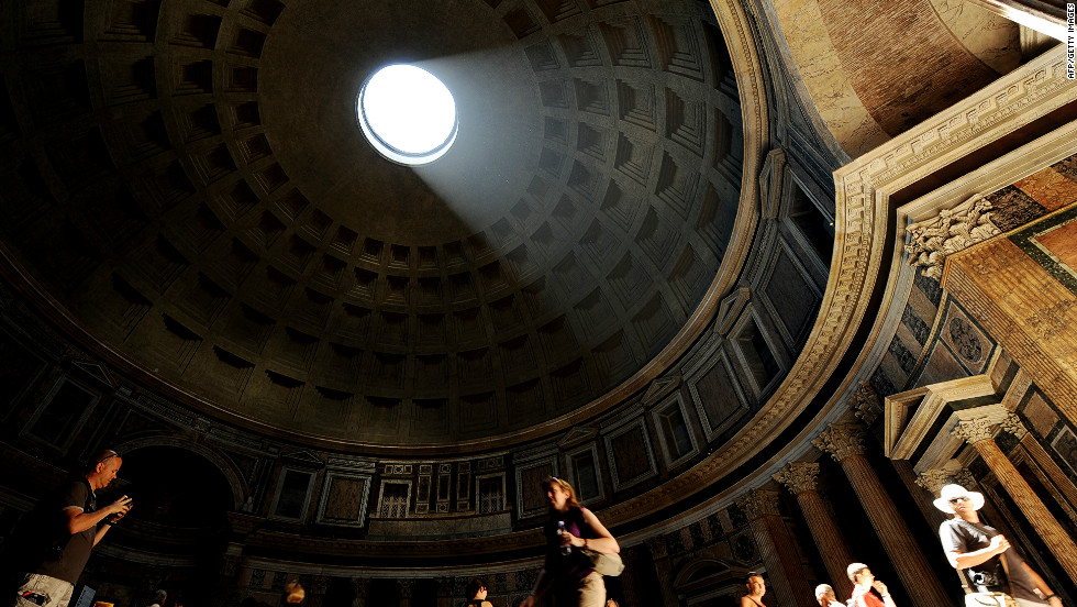 "Archaeo-astronomers have concluded that the Pantheon was designed so that the portico is flooded with light at the equinox. ""That is the beauty of architecture,"" quips Koolhaas, ""364 days of the year it doesn't work, and it's still wonderful."""