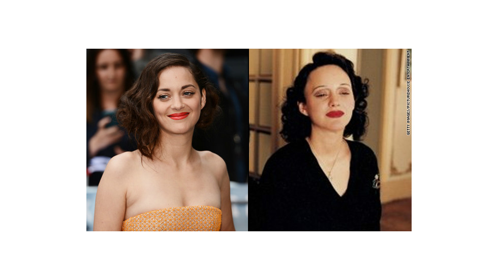 "Critics heaped praise on Marion Cotillard's award-winning portrayal of French chanteuse Edith Piaf in 2007's ""La Vie en Rose."" The physical part of her transformation took patience, with <a href=""http://www.usatoday.com/life/movies/movieawards/oscars/2008-02-14-marion-cotillard-main_N.htm"" target=""_blank"">Cotillard's role demanding</a> five hours in a makeup chair."