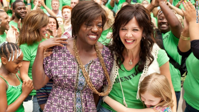 "Viola Davis and Maggie Gyllenhaal star in ""Won't Back Down."""