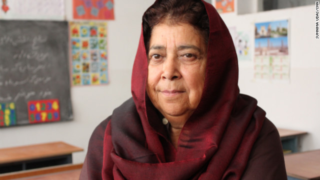 Razia Jan's school teaches math, science, religion and three languages: English, Farsi and Pashto.