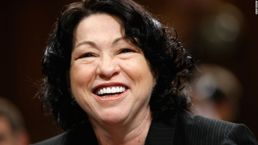Justice Sonia Sotomayor is the court's first Hispanic and third female justice. She was appointed by President Barack Obama in 2009 and is regarded as a resolutely liberal member of the court.