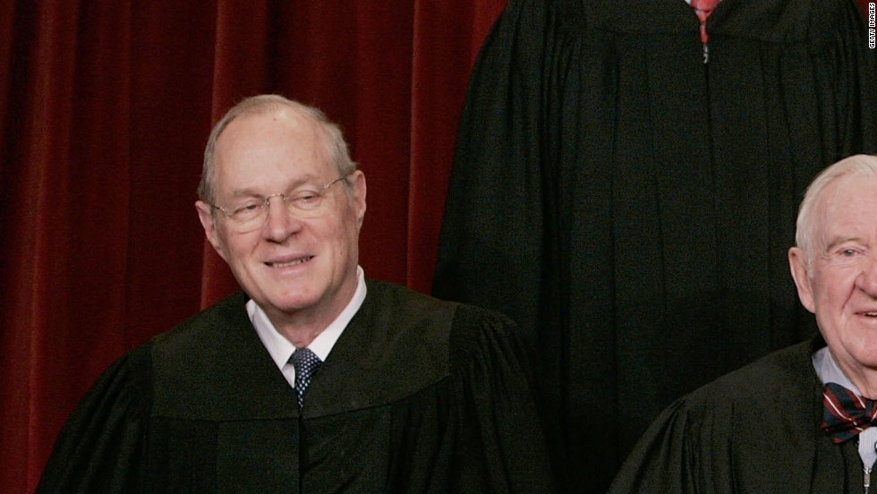 Justice Anthony M. Kennedy was appointed to the court by President Ronald Reagan in 1988. He is a conservative justice but has provided crucial swing votes in many cases, writing the majority opinion, for example, in Lawrence v. Texas, which struck down that state's sodomy law.